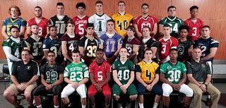 Football team (top row, l-r) Tim Mullane, West