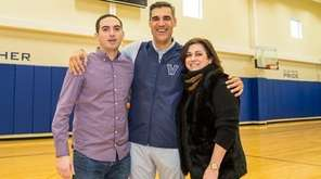 From left, Paul Giorgetti, Villanova men's basketball coach