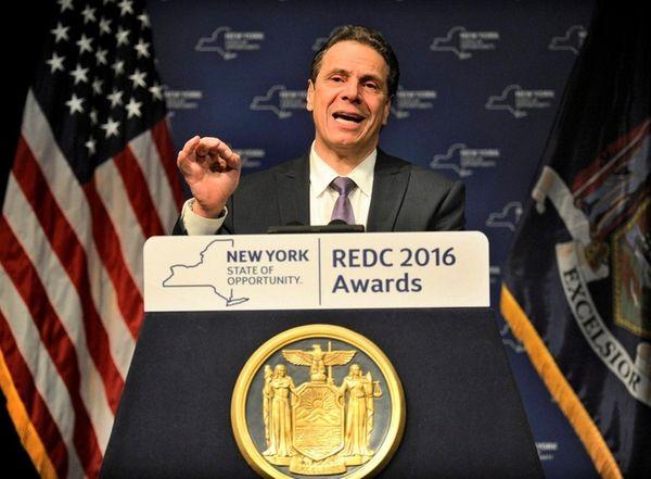 New York Gov. Andrew M. Cuomo speaks Thursday,