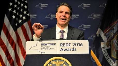 New York Gov. Andrew M. Cuomo speaks Thursday,