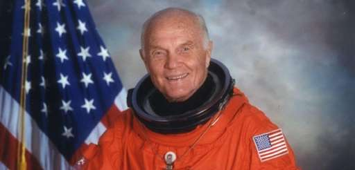 Color formal portrait of John Glenn in his
