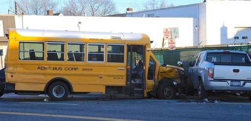 A school minibus was involved in a crash