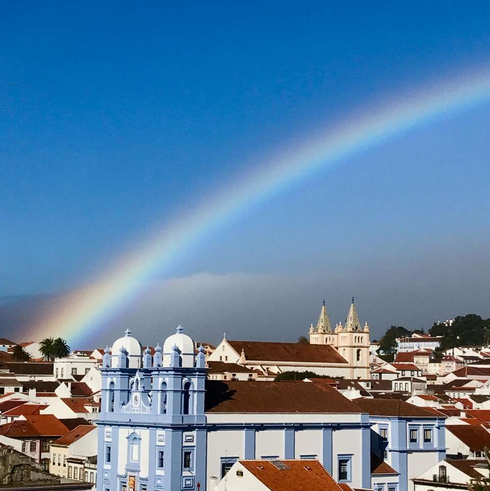 Somewhere over the rainbow....overlooking Angra de Heroismo, a