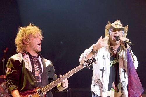 C.C. DeVille, left, and Bret Michaels perform at