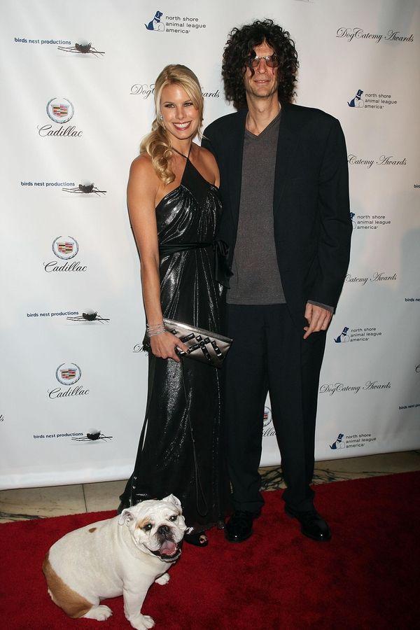 Beth Ostrosky, Howard Stern and their dog Bianca