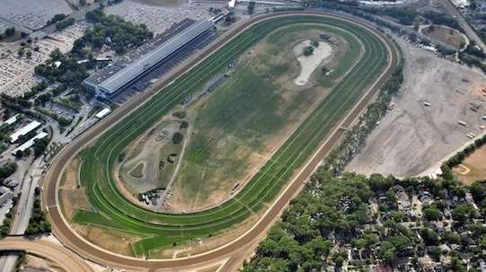 An aerial view of Belmont.