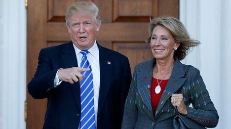 President-elect Donald Trump and Betsy DeVos at Trump