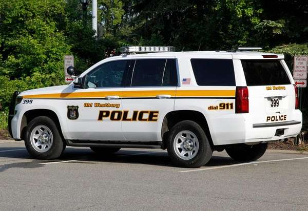 An Old Westbury police vehicle on May 19,