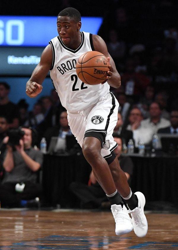 Brooklyn Nets guard Caris LeVert brings the ball