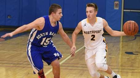Northport guard Kevin Cryer-Hassett controls the ball against