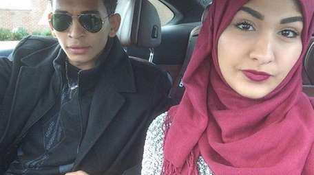 Yasmin Seweid, 18, right, is seen in a