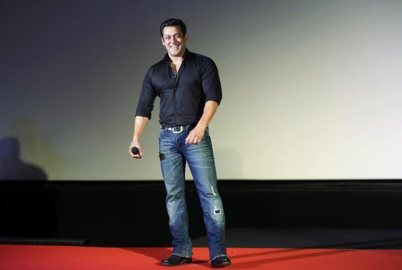 Leading Indian Bollywood actor Salman Khan (