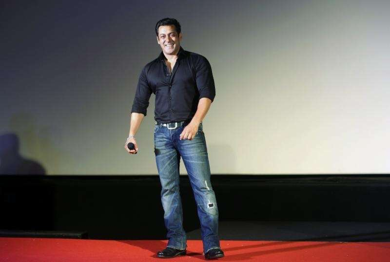 Leading Indian Bollywood actor Salman Khan (