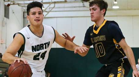 John Alimo of Valley Stream North drives to