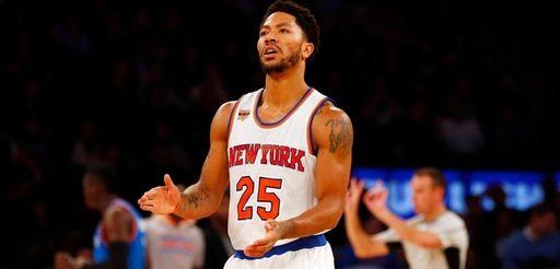 Derrick Rose #25 of the New York Knicks