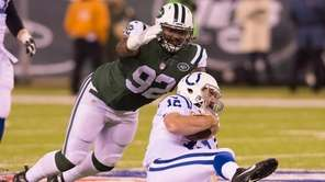 New York Jets defensive tackle Leonard Williams (92)