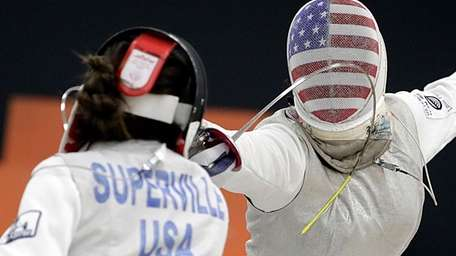 Zoe Superville of Brooklyn Fencing and Iman Blow