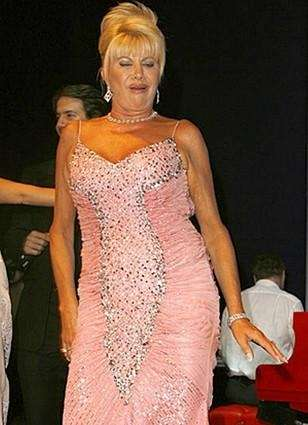 Ivana Trump strikes a pose.
