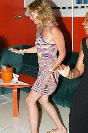 Kim Cattrall dancing.