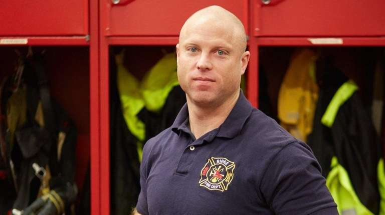 Daniel DeMeo, a Ridge volunteer firefighter, was honored