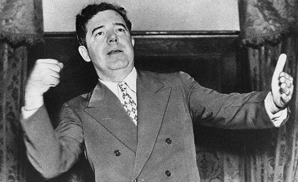 Huey P. Long, a populist governor and senator