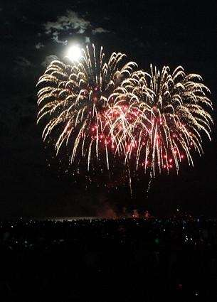 Fireworks are seen during the 4th of July