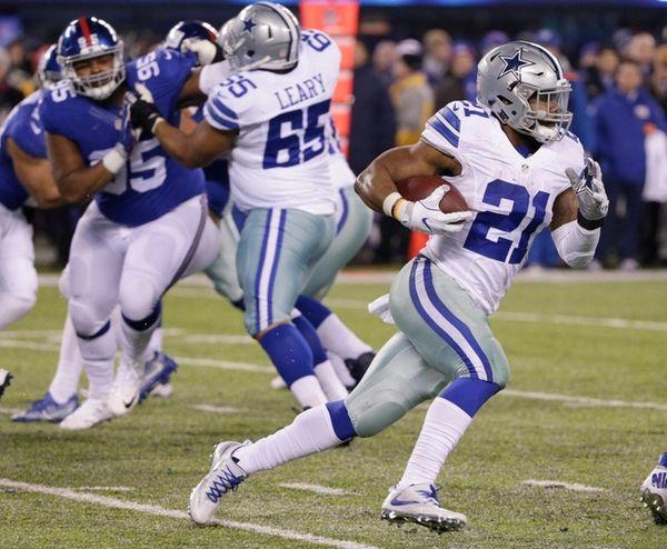 Dallas Cowboys running back Ezekiel Elliott rushes during