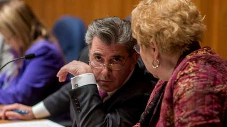 Huntington Town Board member Gene Cook during a