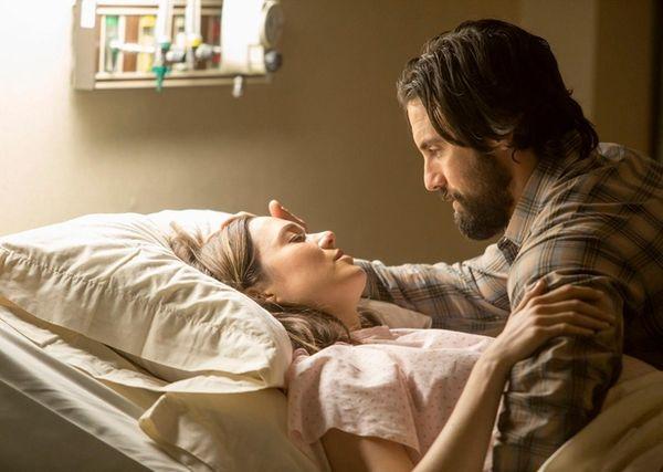 Actors Mandy Moore and Milo Ventimiglia star in