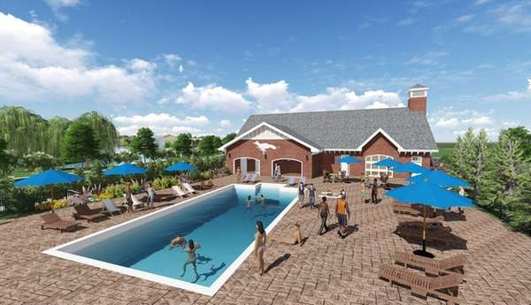 The luxury condominium development Foxgate at Islip has