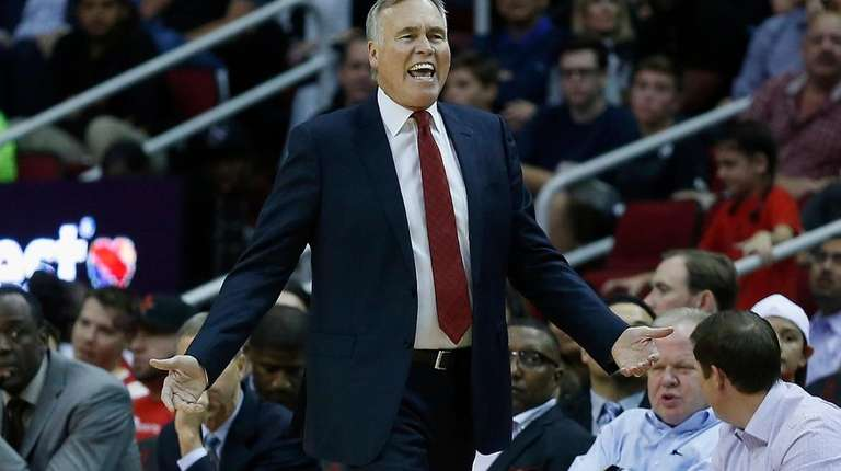 Houston Rockets head coach Mike D'Antoni disagrees with