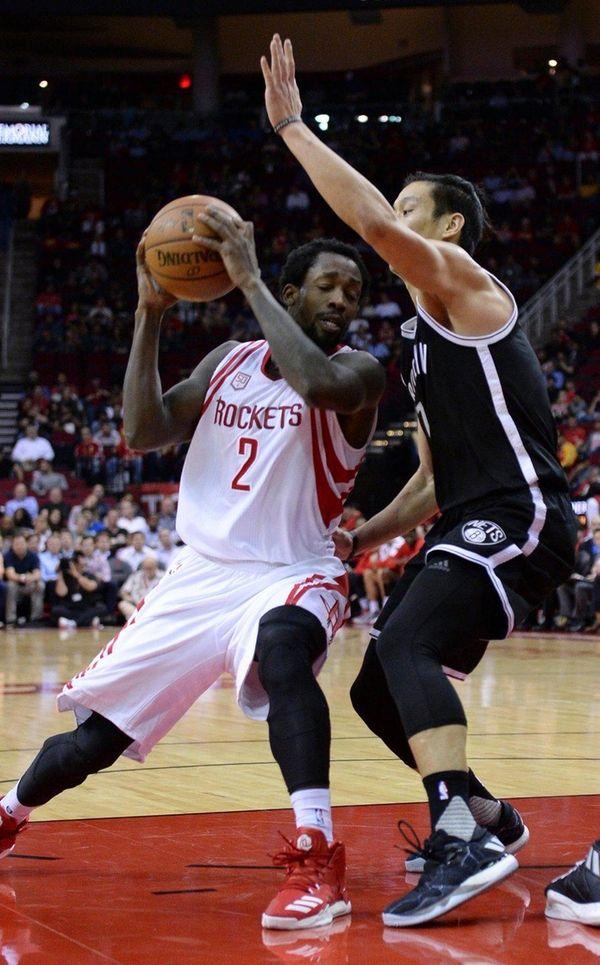 Houston Rockets guard Patrick Beverley drives the lane