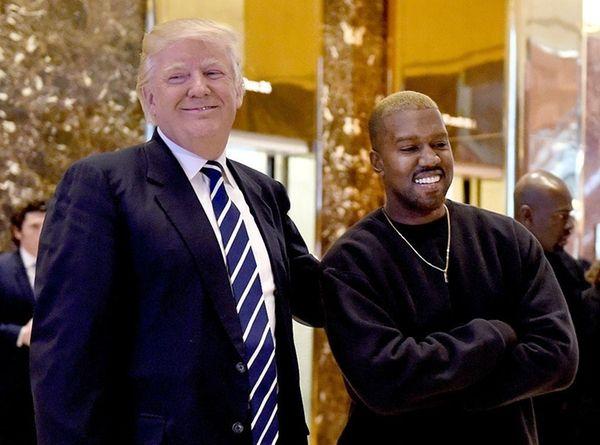 President-elect Donald Trump, left, and rapper Kanye West