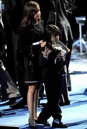 Paris Jackson and Prince Michael Jackson II, also