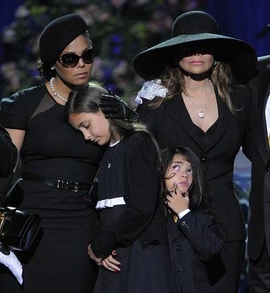 Singer Janet Jackson, left, Paris Katherine Jackson, Prince