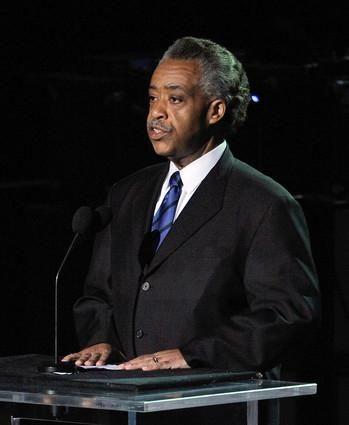 Rev. Al Sharpton speaks at the Michael Jackson