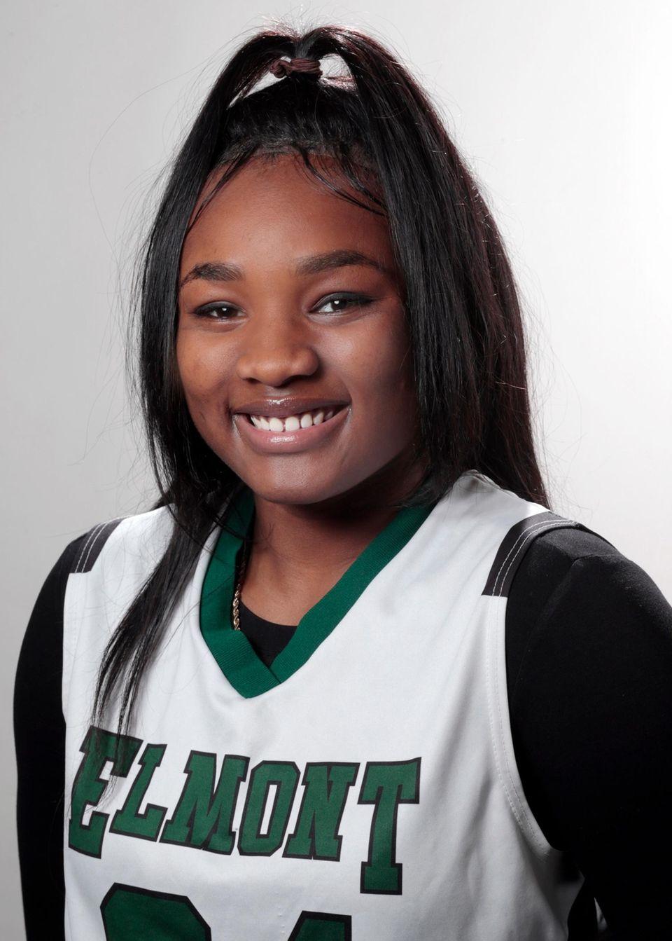 She led the team in scoring and rebounding