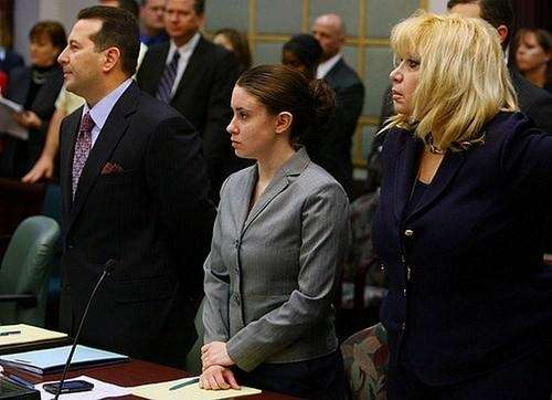 Attorney Jose Baez (left) Casey Anthony (center) and