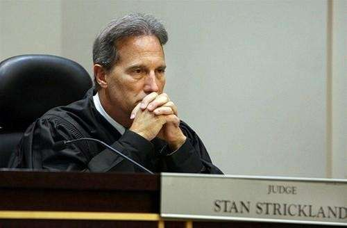 In an Orange County courtroom Judge Stan Strickland