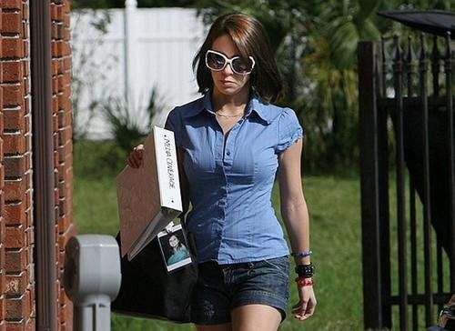 Casey Anthony arrives at her lawyer's office Thursday