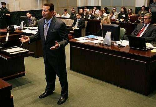 Casey Anthony's attorney, Jose Baez, questions a witness