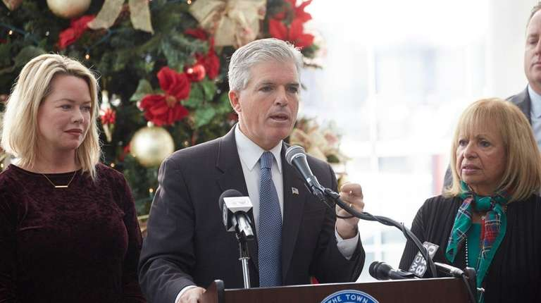 Suffolk County Executive Steve Bellone with Islip Town