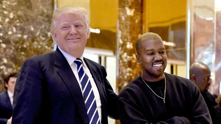 Donald Trump met with Kanye West at Trump