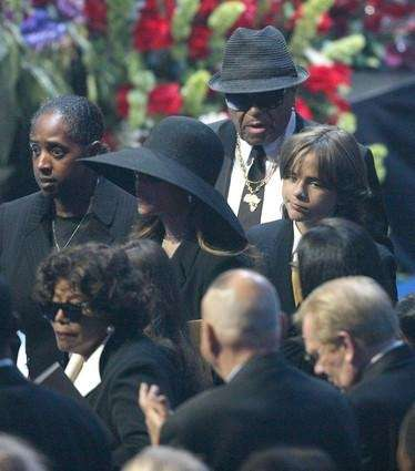 Michael Jackson's parents Joe Jackson (C-Rear) and Katherine