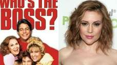 Alyssa Milano, center, on the DVD cover for