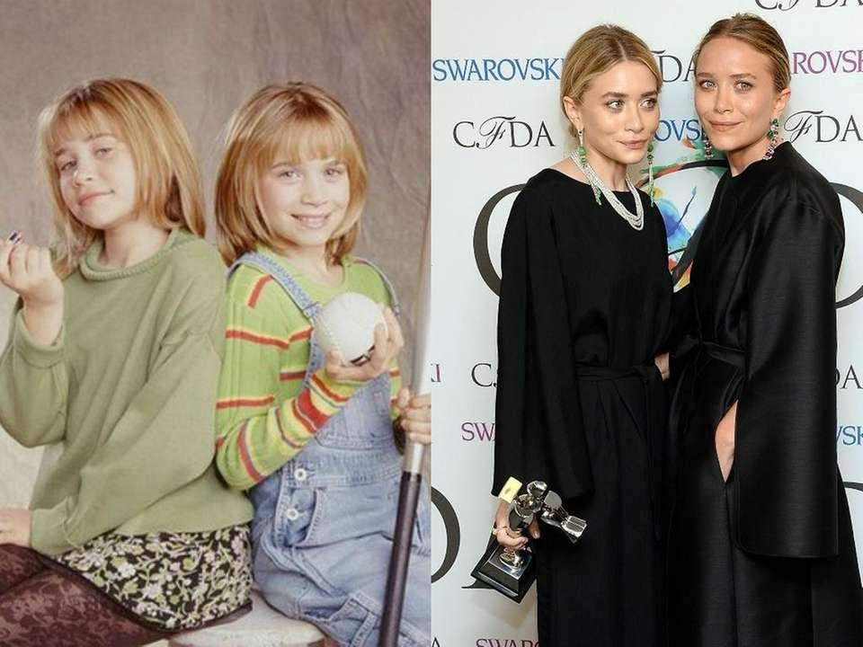 The Olsen twins, 12, in their short lived