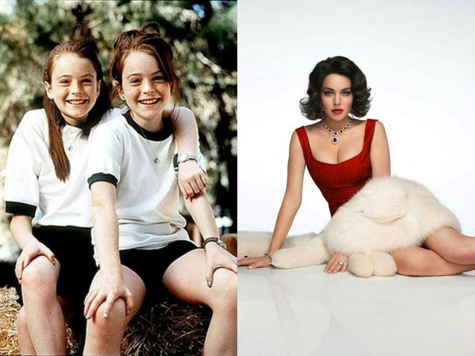 Lindsay Lohan played twins Hallie and Annie in