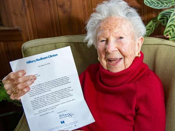Dorothy Sellers is a 103 year old resident