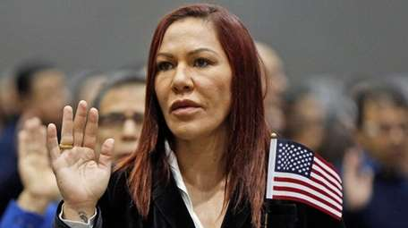 Brazilian UFC fighter Cris Cyborg Justino takes the