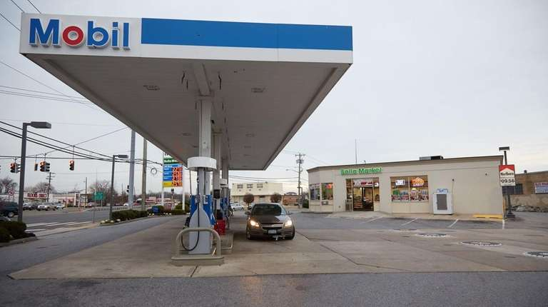 A Mobil gas station at 1201 Sunrise Highway,